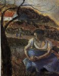 camille pissarro seated peasant woman paintings