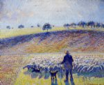 camille pissarro shepherd and sheep painting