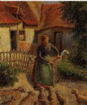 camille pissarro shepherdess bringing in the sheep painting