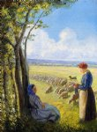 camille pissarro shepherdesses paintings