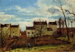 camille pissarro spring at pontoise painting