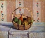 camille pissarro still life apples and pears in a round basket painting