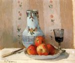 camille pissarro still life with apples and pitcher painting 82800