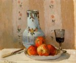 camille pissarro still life with apples and pitcher painting