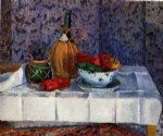 camille pissarro still life with spanish peppers painting