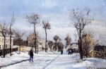 camille pissarro street in the snow louveciennes prints