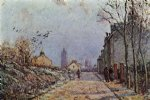 street original paintings - street snow effect by camille pissarro