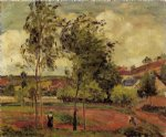 camille pissarro strong winds pontoise painting