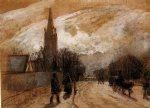 camille pissarro study for all saints church upper norwood painting