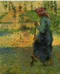 camille pissarro study of a peasant in open air painting