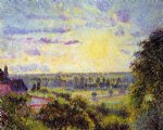 camille pissarro sunset at eragny ii painting 36376