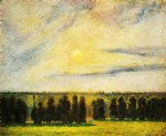 camille pissarro sunset at eragny painting 36377