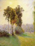 camille pissarro sunset at st. charles eragny oil paintings