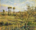 camille pissarro sunset at valhermeil near pontoise painting 36608