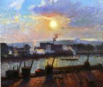 camille pissarro sunset rouen art