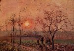 camille pissarro sunset painting 36378