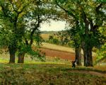 tree famous paintings - the chestnut trees at osny by camille pissarro