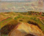 camille pissarro the dunes at knocke belgium painting