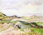 camille pissarro the dunes at knokke painting