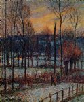 camille pissarro the effect of snow sunset eragny painting 36397