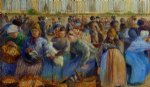 camille pissarro the egg market painting