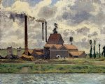 camille pissarro the factory painting