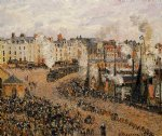 camille pissarro the fishmarket dieppe painting