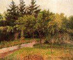 camille pissarro watercolor paintings - the garden at eragny by camille pissarro