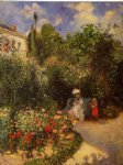 camille pissarro watercolor paintings - the garden at pontoise by camille pissarro