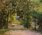 camille pissarro watercolor paintings - the garden in spring eragny by camille pissarro