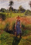 camille pissarro the gardener afternoon sun eragny painting