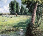 camille pissarro the goose girl painting