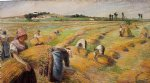 camille pissarro the harvest ii painting