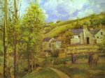 camille pissarro watercolor paintings - the hermitage at pontoise by camille pissarro