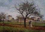 camille pissarro the house of pere gallien pontoise painting
