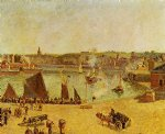 camille pissarro the inner harbor dieppe painting