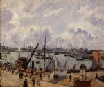 camille pissarro the inner harbor le havre painting