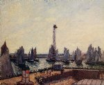 camille pissarro the inner port and pilots jetty le havre painting