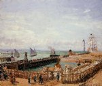 camille pissarro the jetty le havre painting