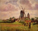 camille pissarro the knocke windmill belgium painting