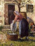 camille pissarro the laundry woman ii painting