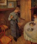 camille pissarro the little country maid painting