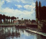camille pissarro the lock at pontoise painting