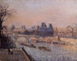 camille pissarro the louvre afternoon paintings