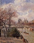 camille pissarro the louvre gray weather afternoon painting