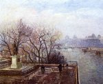 camille pissarro the louvre morning mist paintings