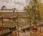 camille pissarro the louvre morning sun quai malaquais paintings