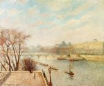 camille pissarro the louvre winter sunlight morning 2nd version painting