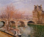 lion print - the pont royal and the pavillion de flore by camille pissarro