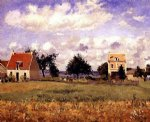 camille pissarro the red house painting